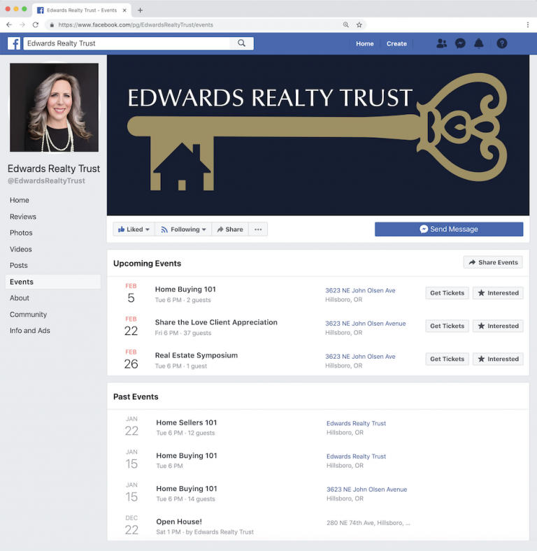 Edwards Realty Trust events